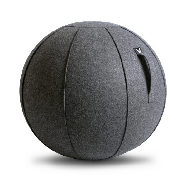 Vivora Luno Anthracite Felt Seating Ball Chair for exercise home use or office