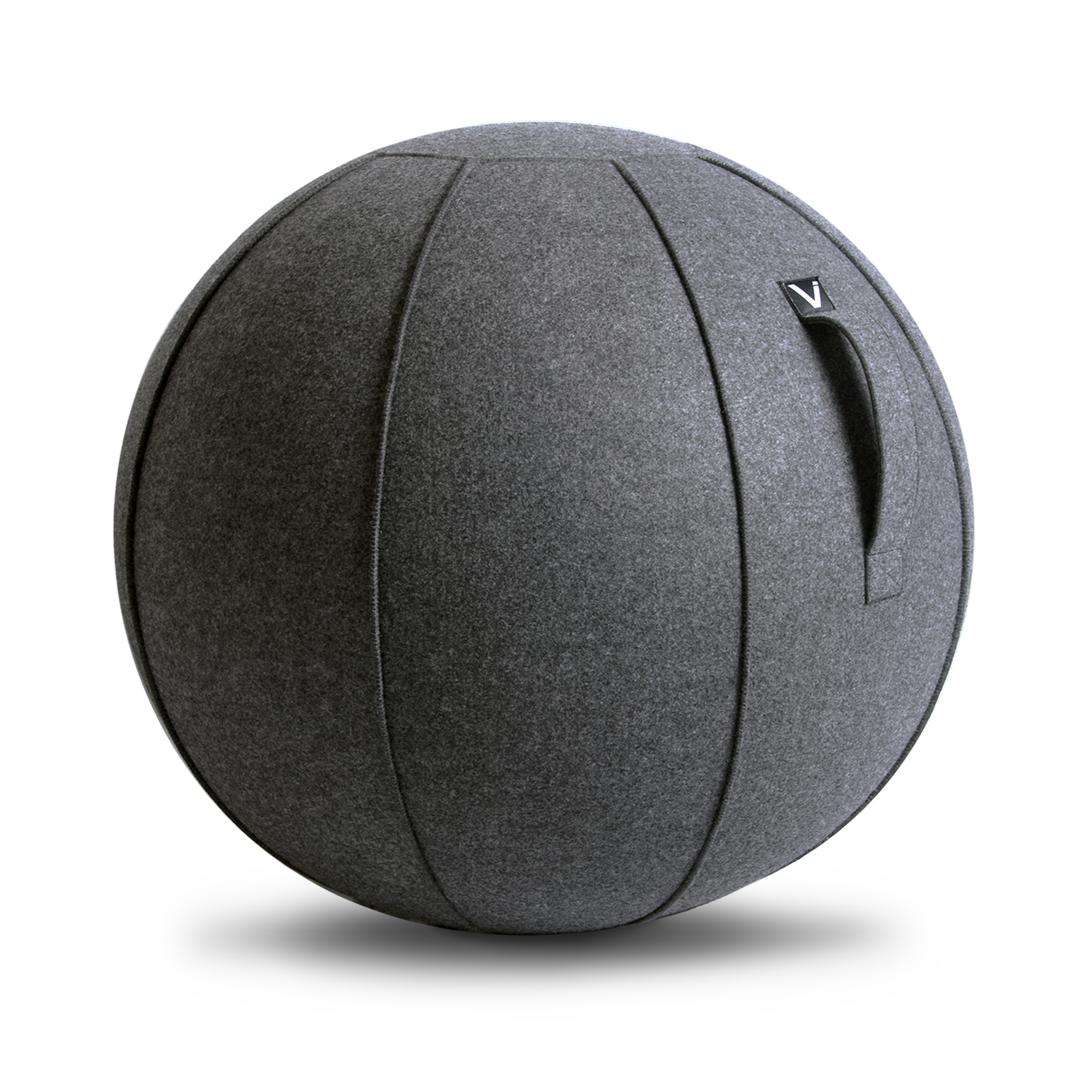 Luno Standard Classic Series Felt Sitting Ball Chair With Handle Anthracite Vivora