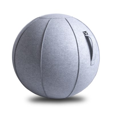 Vivora Luno Marble Felt Seating Ball Chair for exercise home use or office