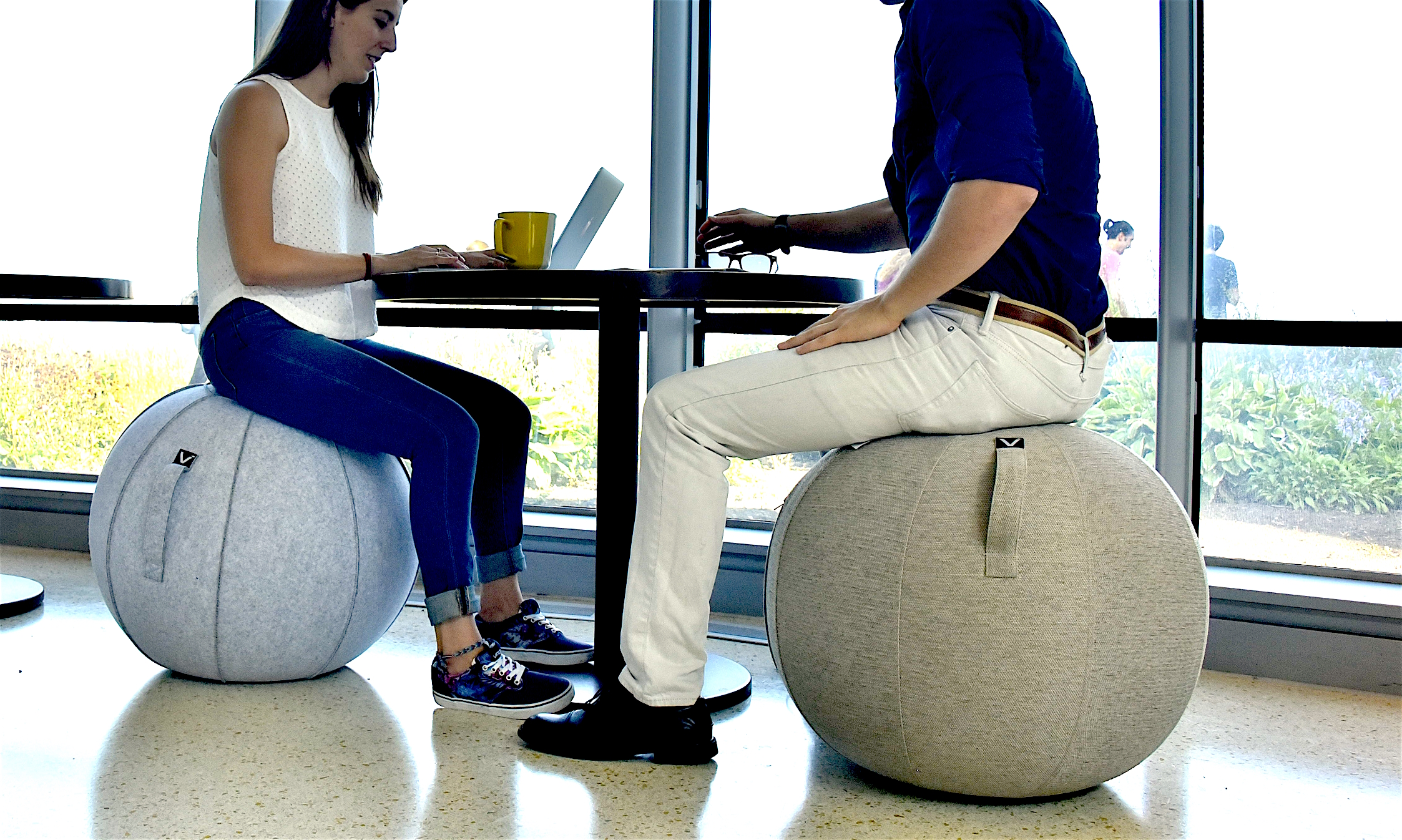 Luno Standard Classic Series Felt Sitting Ball Chair